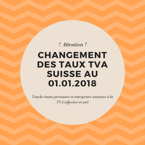 Changement des taux TVA suisse
