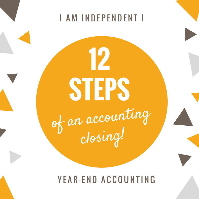 12 steps of an accounting year-end